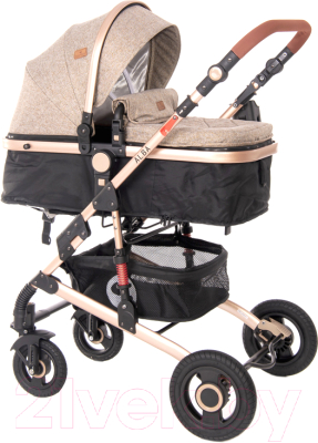 Детская универсальная коляска Lorelli Alba 3 в 1 Dark Beige / 10021472059R