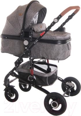 Детская универсальная коляска Lorelli Alba 3 в 1 Dark Grey / 10021472060