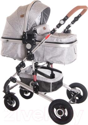 Детская универсальная коляска Lorelli Alba 3 в 1 Light Grey / 10021472061