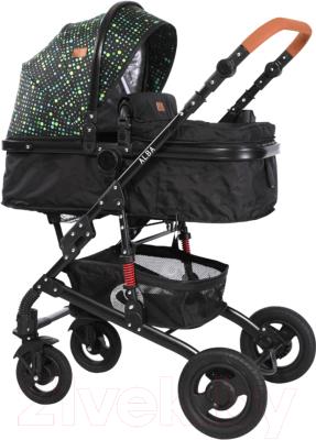 Детская универсальная коляска Lorelli Alba Black Circles / 10021422062