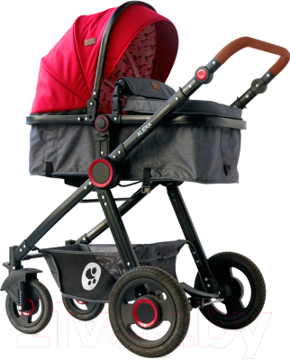 Детская универсальная коляска Lorelli Alexa 2 в 1 Red Black Lighthouse / 10021262069
