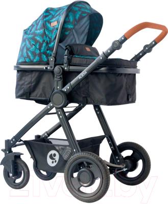 Детская универсальная коляска Lorelli Alexa 3 в 1 Black Leaves / 10021292064