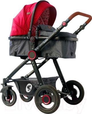 Детская универсальная коляска Lorelli Alexa 3 в 1 Red Black Lighthouse / 10021292069