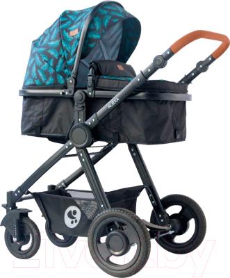 Детская универсальная коляска Lorelli Alexa Black Leaves / 10021262064