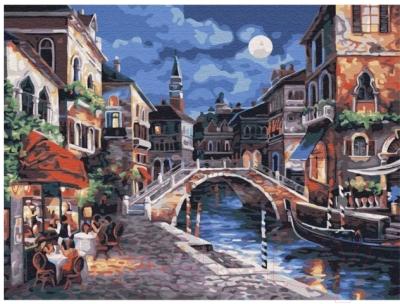 Картина по номерам Azart Ночь в Венеции / AZ3040GK-17