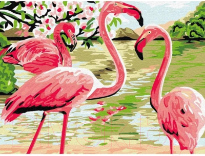 Картина по номерам Azart Фламинго / AZ3040GK-31