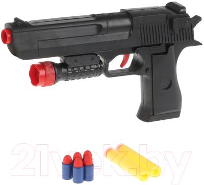 Пистолет игрушечный Играем вместе С мягкими и пластиковыми пулями / B1375185-R