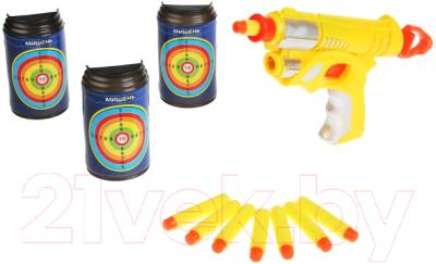 Бластер игрушечный Играем вместе Тир с мягкими пулями / B1855638-R