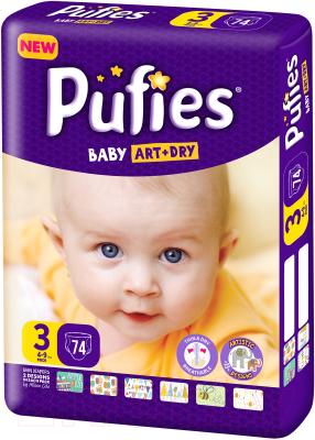 Подгузники детские Pufies Baby Art&Dry Midi 4-9 кг