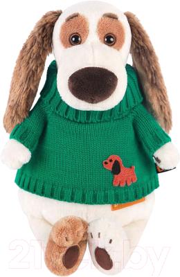 Мягкая игрушка Budi Basa Бартоломей в зеленом свитере / Bart27-007