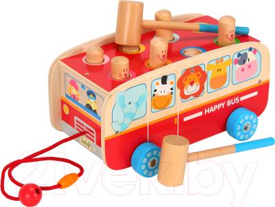 Игрушка-каталка Boby Стучалка. Веселый автобус / BB0507