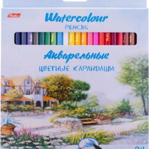 Набор акварельных карандашей Hatber Пейзаж / BKa-24350