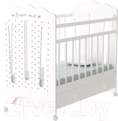 Детская кроватка VDK Bonne колесо-качалка и ящик