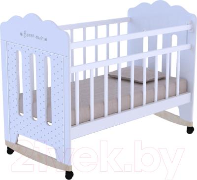 Детская кроватка VDK Bonne колесо-качалка