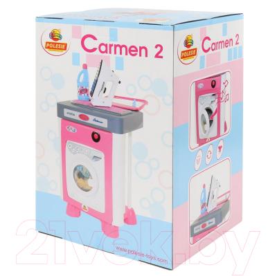 Комплект бытовой техники игрушечный Полесье Carmen №2 со стиральной машиной / 57907
