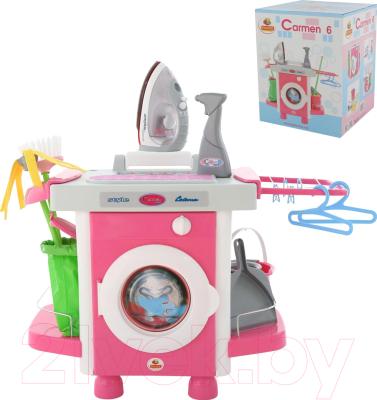 Комплект бытовой техники игрушечный Полесье Carmen №6 с аксессуарами и утюжком / 58850