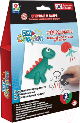 Набор для творчества 1Toy Clay Crayon Динозавр / Т19012