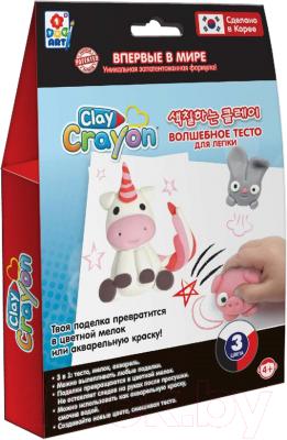 Набор для творчества 1Toy Clay Crayon Единорог / Т19013