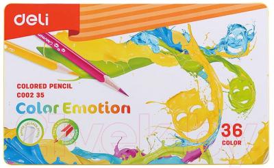 Набор цветных карандашей Deli Color Emotion / 00235