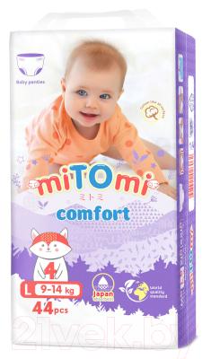 Подгузники-трусики детские MiTomi Comfort L от 9 до 14кг