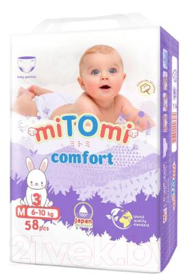 Подгузники-трусики детские MiTomi Comfort M от 6 до 10кг