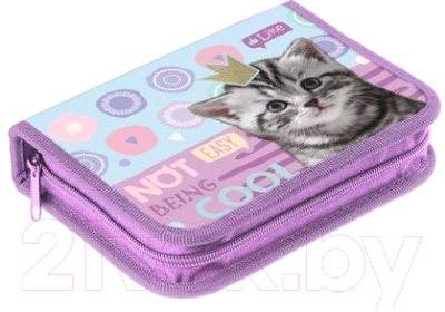 Пенал Hatber Cool Kitty / Npk 27153