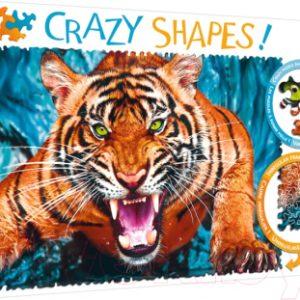 Пазл Trefl Crazy Shapes. Лицом к лицу с тигром / 11110