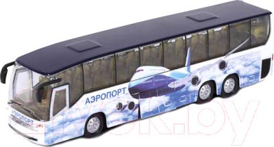 Автобус игрушечный Технопарк Аэропорт / CT10-025(SB)