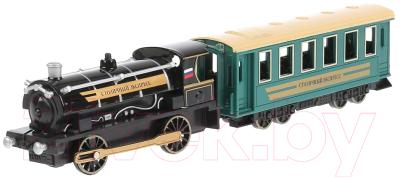 Элемент железной дороги Технопарк Поезд с вагоном / CT10-038-BU-WB