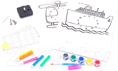 Набор для творчества Bradex Часы своими руками: Вертолет и Корабль DE 0166