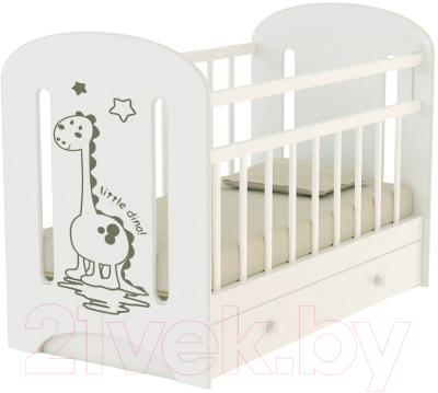 Детская кроватка VDK Dino с маятником и ящиком