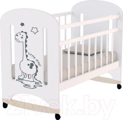 Детская кроватка VDK Dino колесо-качалка