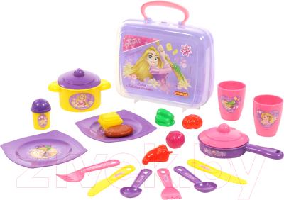 Набор игрушечной посуды Полесье Disney. Принцесса Рапунцель - Готовим вместе / 71033