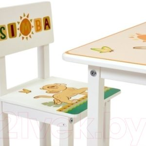 Комплект мебели с детским столом Polini Kids Disney Baby. 105 S Король Лев