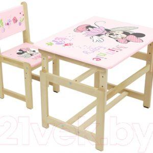 Комплект мебели с детским столом Polini Kids Disney Baby. 400 SM Минни Маус