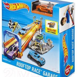 Автотрек гоночный Hot Wheels Гараж и гонка на крыше / DRB29