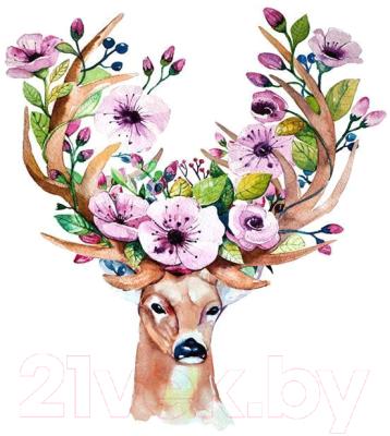 Набор алмазной вышивки Darvish Олень в цветах / DV-11513-8