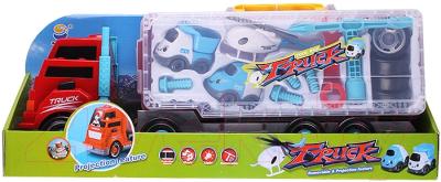 Набор игрушечных автомобилей Darvish Трейлер с мини транспортом и инструментами / DV-T-811