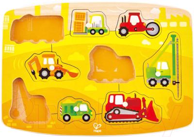 Развивающая игрушка Hape Вкладыши. Строительная техника / E1407-HP