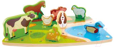 Развивающая игрушка Hape Вкладыши. Животные / E1454-HP