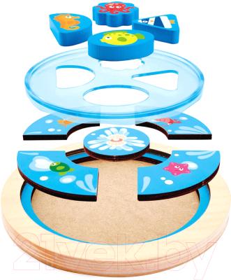 Развивающая игрушка Hape Вкладыши. Глубоководные существа / E1604-HP