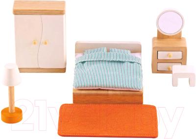 Комплект аксессуаров для кукольного домика Hape Спальня / E3450-HP