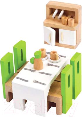 Комплект аксессуаров для кукольного домика Hape Столовая / E3454-HP