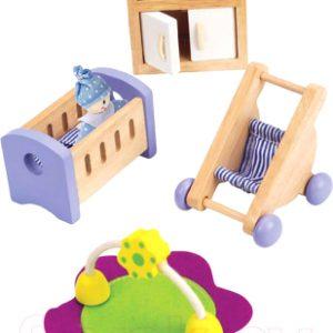 Комплект аксессуаров для кукольного домика Hape Комната для малыша / E3459-HP