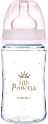 Бутылочка для кормления Canpol EasyStart Royal Baby / 35/234