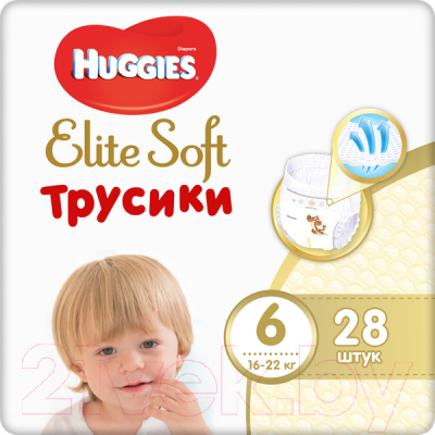 Подгузники-трусики детские Huggies Elite Soft 6 Mega