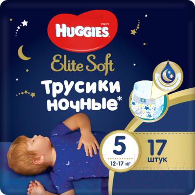 Подгузники-трусики детские Huggies Elite Soft Overnites 5