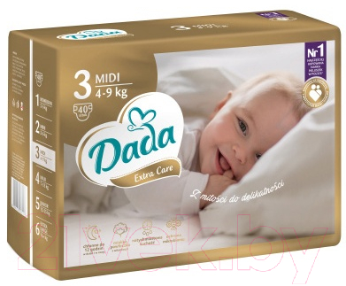 Подгузники детские Dada Extra Care Midi 3