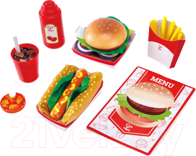 Набор игрушечных продуктов Hape Fast Food / E3160-HP