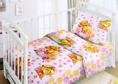 Комплект постельный в кроватку Fun Ecotex Мишка-малышка / FE 10047